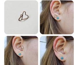 Heart Shaped Wire Ear Cuff