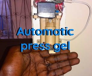 Corona-virus Riposte 1: Automatic Antiseptic Gel Press