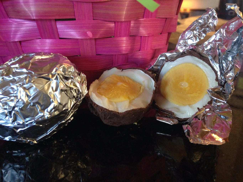 Homemade Chocolate Eggs