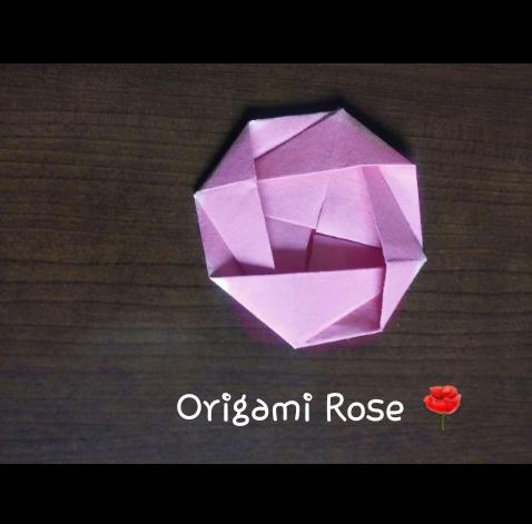 Basic Origami Rose