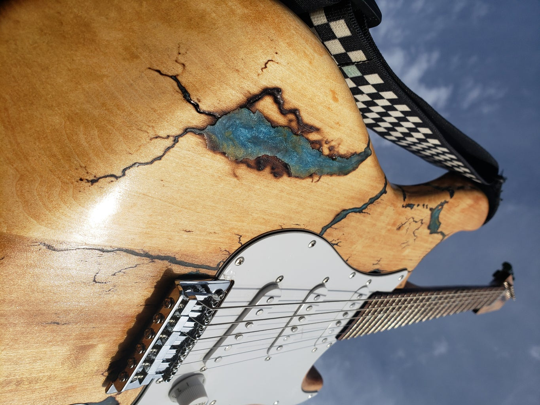 Lichtenberg Resin Guitar
