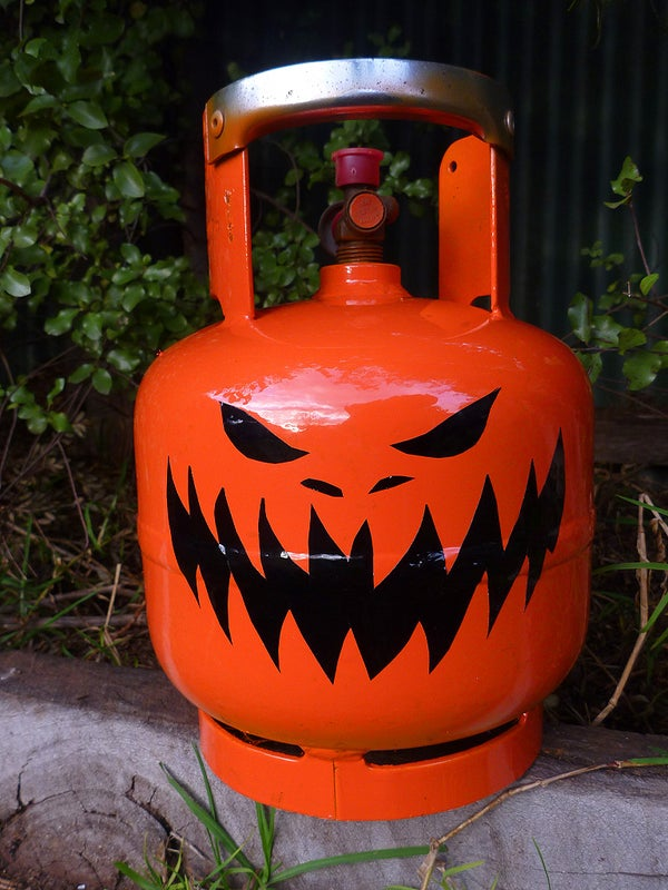 Propane Bottle Jack O' Lantern