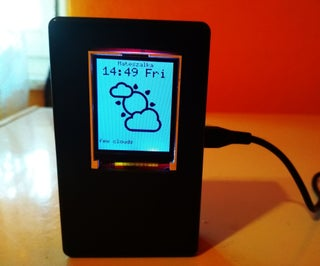 """ESP8266/ESP32 Weather Station With 1.8"""" TFT LCD Openweathermap"""