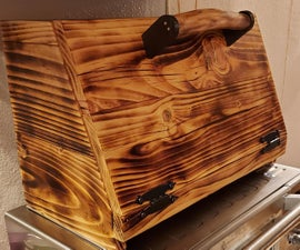Wood Burned Bread Box/ Storage Box From Reclaimed Pallet Wood