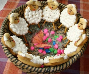 Sheep Cookies for Easter