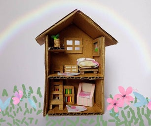 How to Make a Tiny Doll House; Miniature Crafts