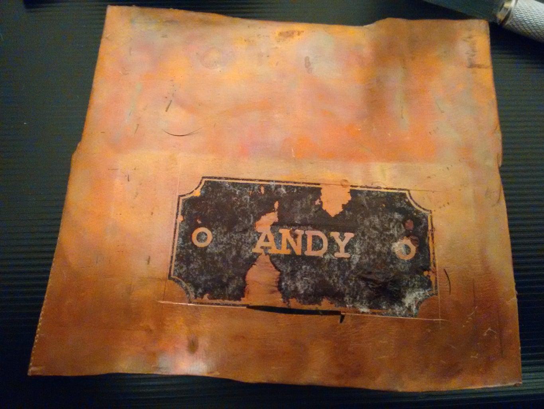 Custom Hardware: Copper Name Plate