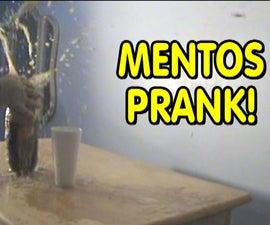 Preparing the Ultimate Mentos and Coke Prank!