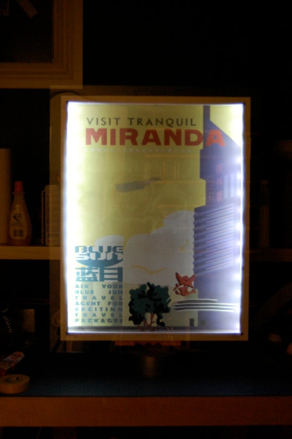 Illuminated Touchscreen Poster Frame With Subliminal Message!