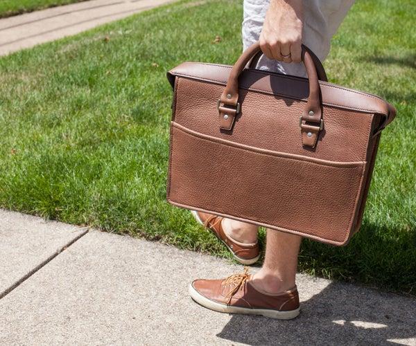 Bison Leather Briefcase