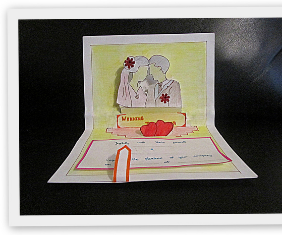 DIY 3D Pop Up Wedding Invitation