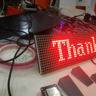 64x16 RED LED Marquee