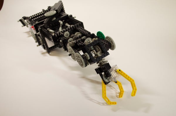 Four Degrees of Freedom Lego Robot Arm Made From Two Thymio Robots