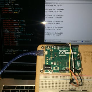 Very Simple HC-SR04 Connection to Arduino Example