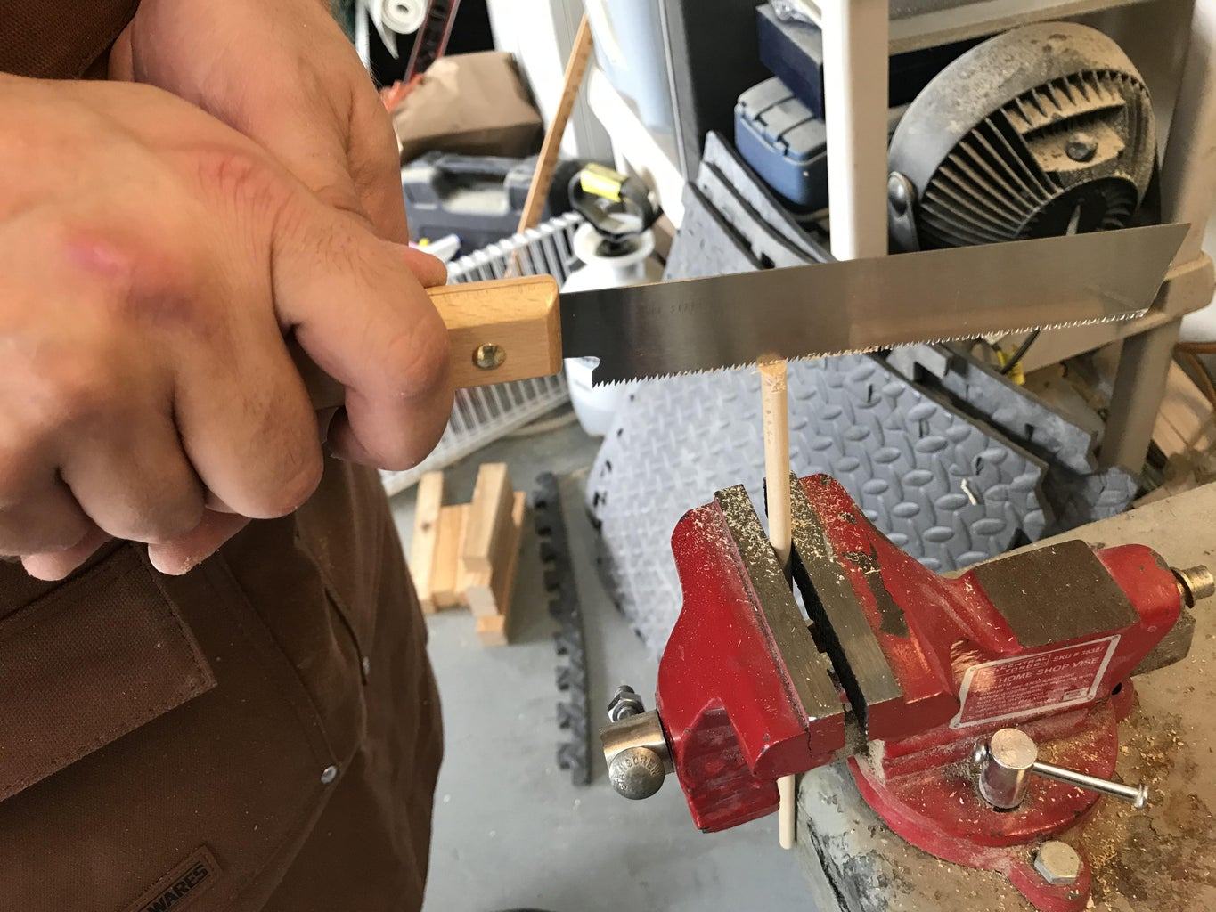 Mounting the Blade in the Handle