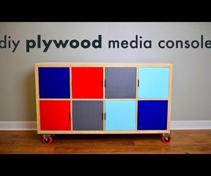 How to Build a DIY Plywood Media Console // Limited Tools Build