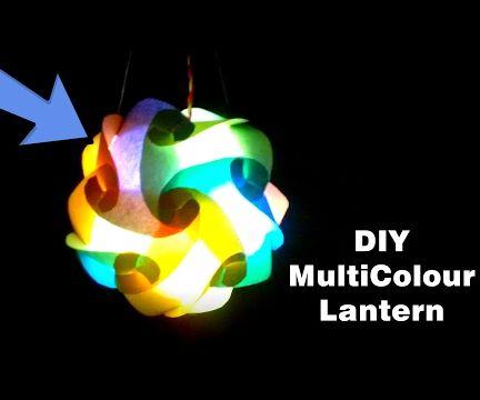 Multicolored Lantern -  Easy and Beautiful Decor