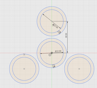 Sketching the Fidget Spinner Circles