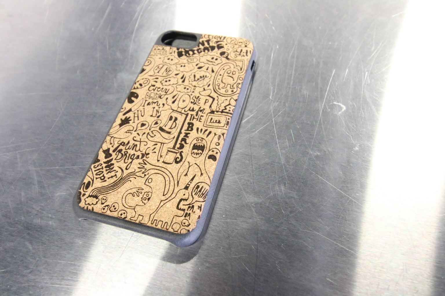 Laser Engraved Cork Cell Phone Covers