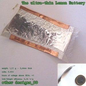 Other Designs_9: the Ultra-thin Lemon Battery