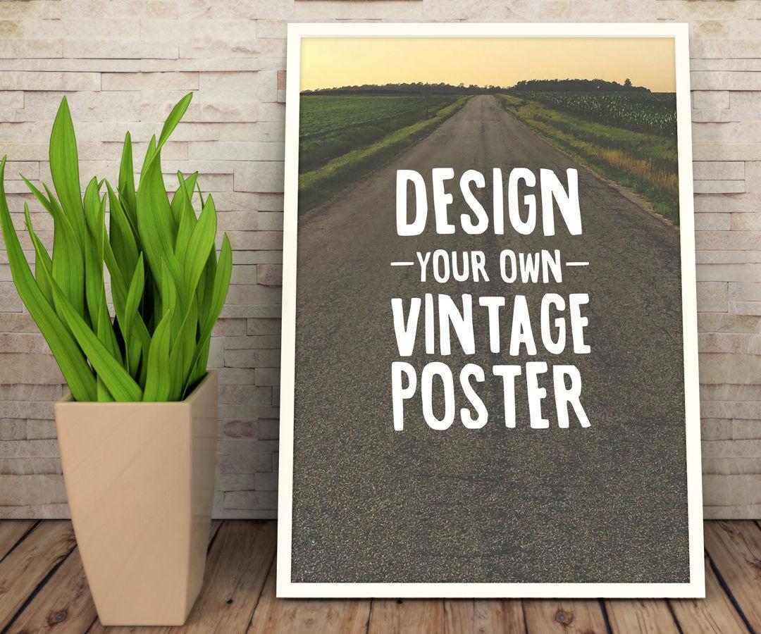 Design a Vintage Inspirational Poster