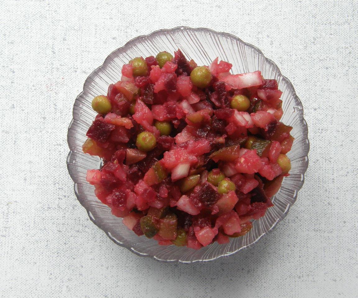 Vinegret. a Russian Mixed Salad