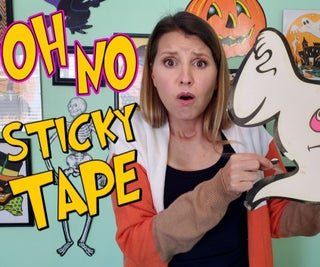 Easy Way to Remove Sticky Tape Residue From Paper Decorations & Cardboard Die Cuts