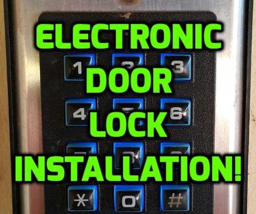 Electronic Door Lock Install DIY!