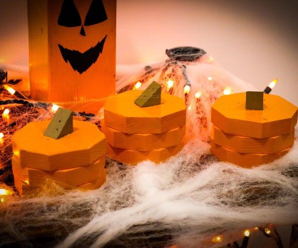 Halloween Wood Pumpkins DIY | EASY Crafts!