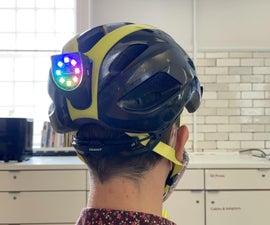 Magnetic Rainbow Tail-light for Bike Helmet