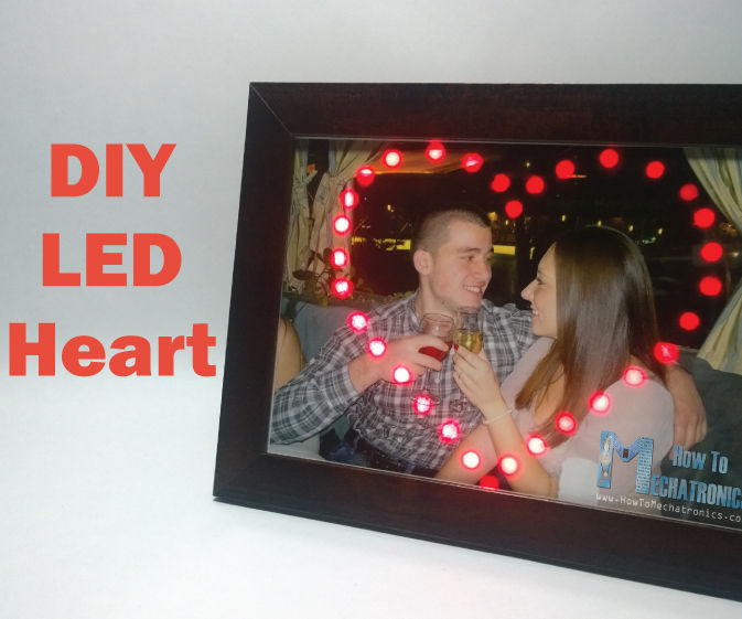 LED Heart Photo Frame - Make a Perfect Valentine's or Birthday Present