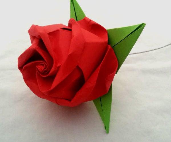 Fold an Origami Rose