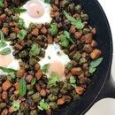 Bhindi Aloo Breakfast Hash
