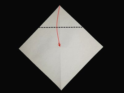 Fold the Top Corner to the Center Point.