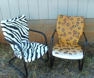 Spray Painted Patio Chairs