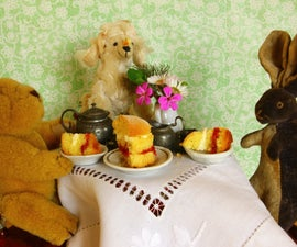 Mini Strawberry and Cream Sponge Cake Tiny Tea Time
