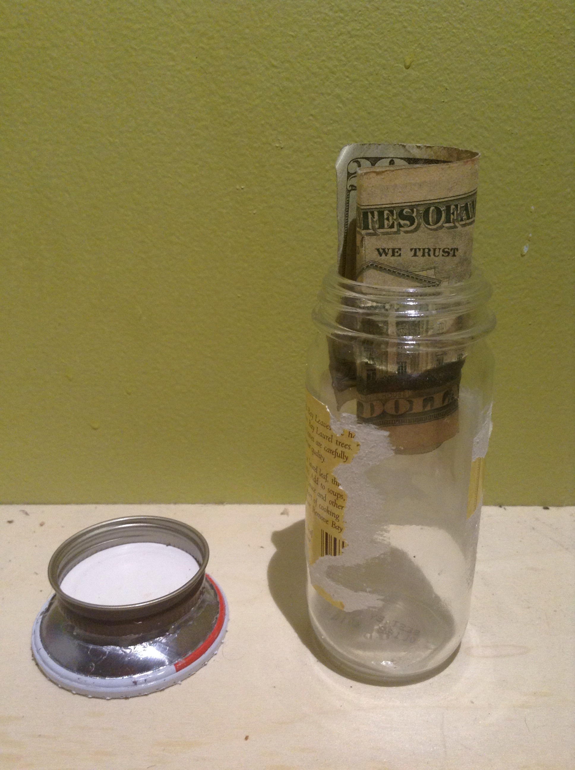 Cooking Spray Secret Compartment