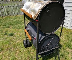 No-weld Double Barrel Smoker V1.1
