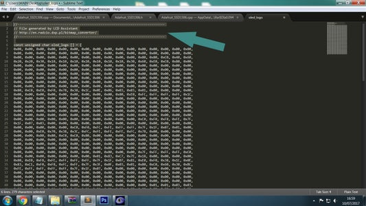 Edit Logo Hex Code Output File