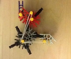 Tiny KNEX Rubber Band Shooter (pistol/4 Bullet Round/semiauto)