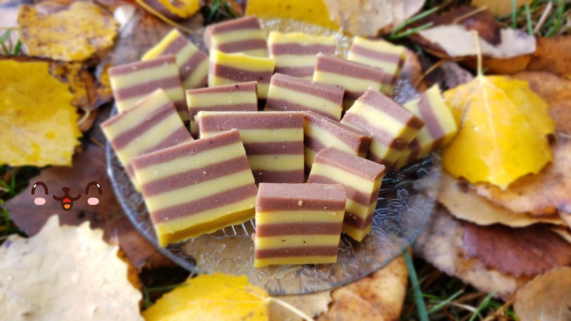 Chocolate Pumpkin Stripes Cake