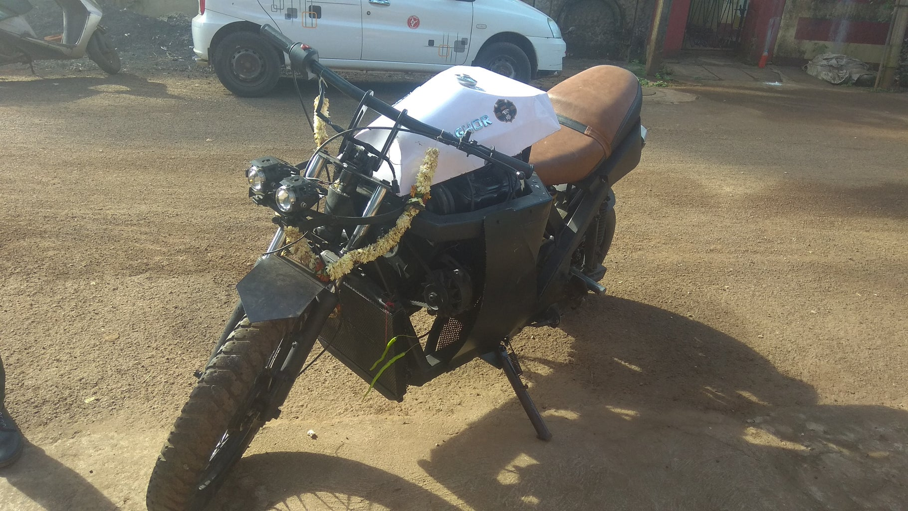 Car Engine to Motorbike From Scrap