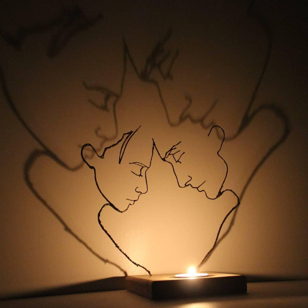 How to Make a Tea Light Romantic Couple Candle Holder