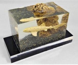 How to Make Faux Aquarium | Shark Fish Tank | Lamp Resin Art
