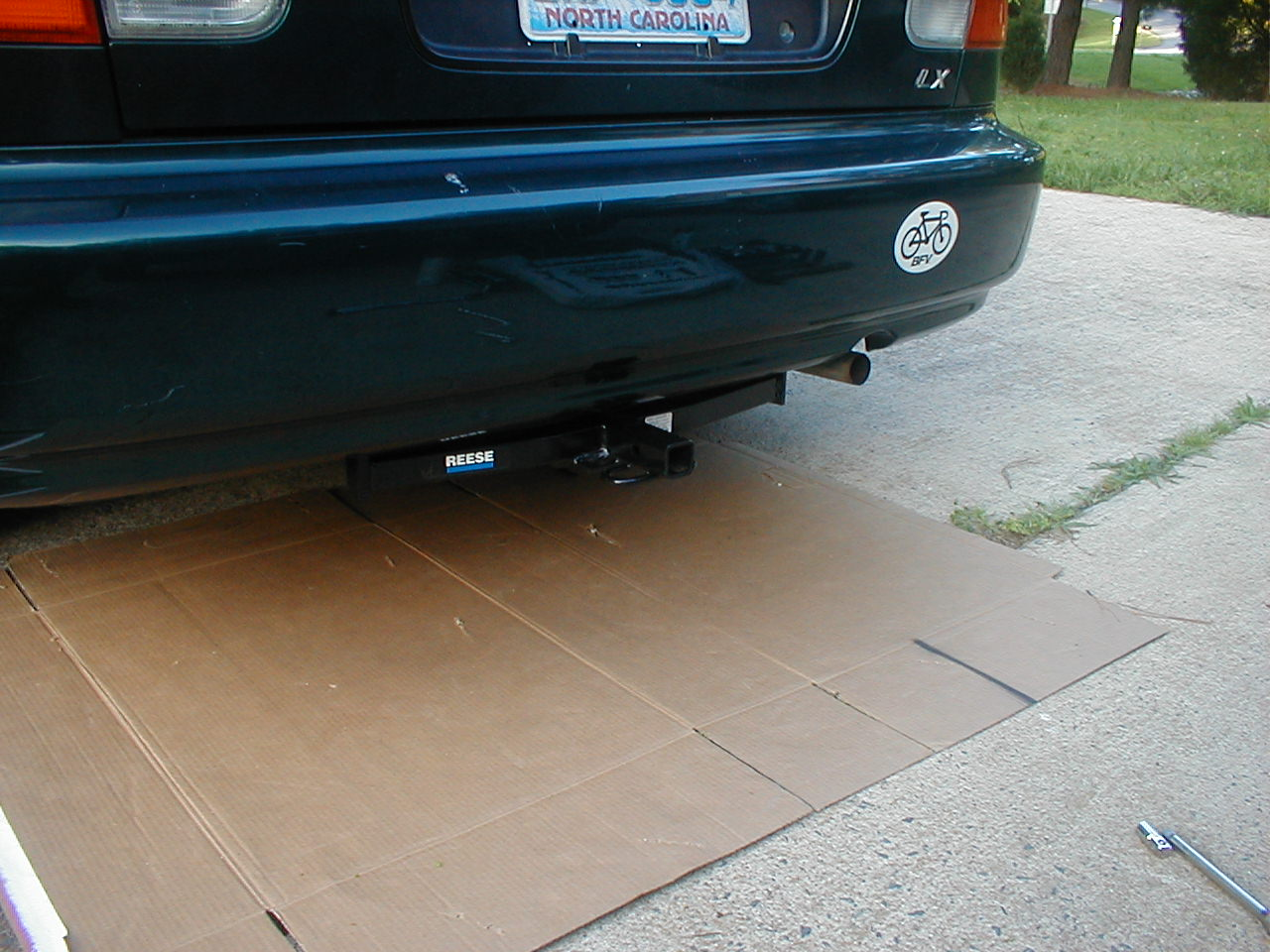 Installing a trailer hitch on a small car