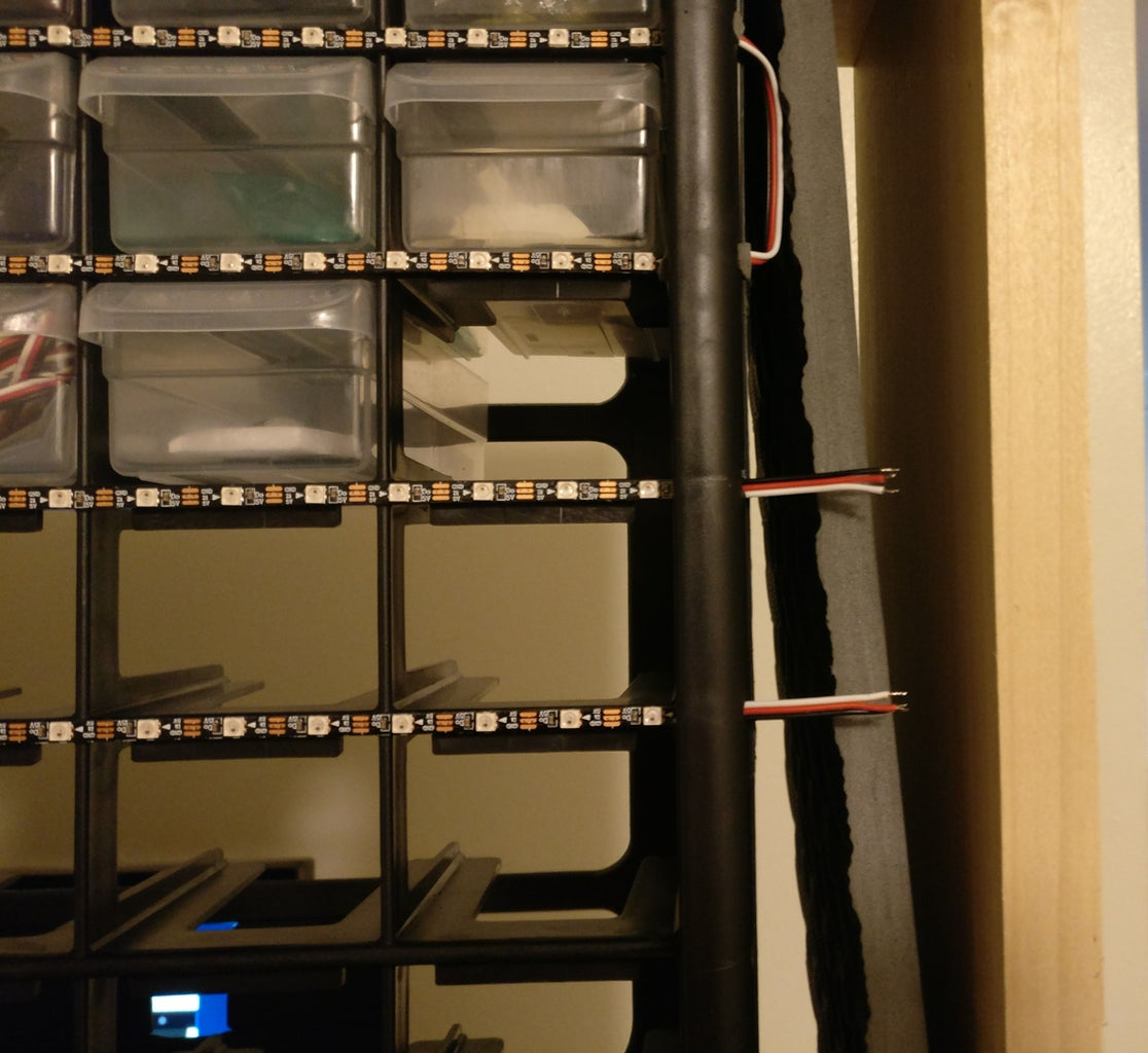 Construction - Install the LED Strips