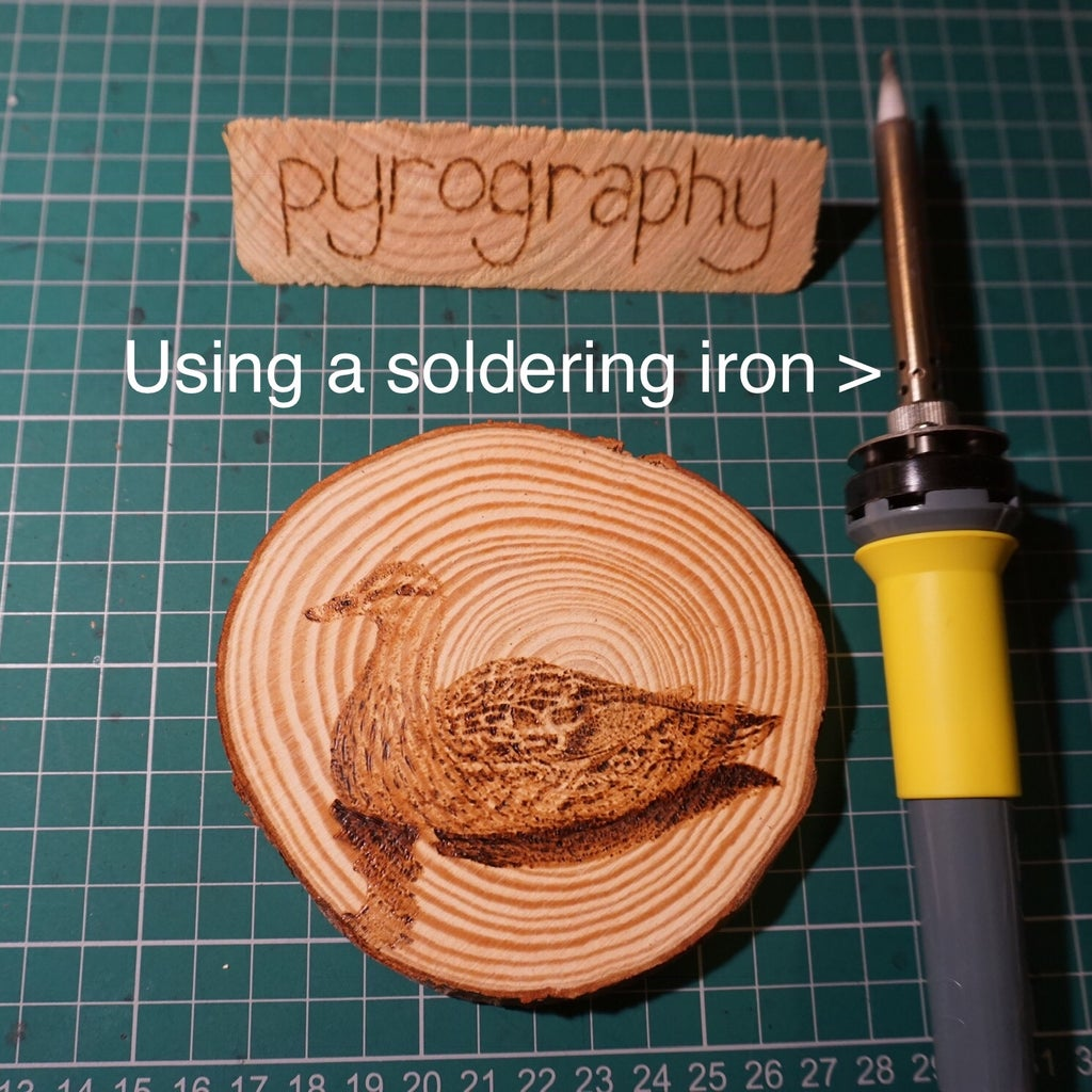 Pyrography Coasters Using a Soldering Iron