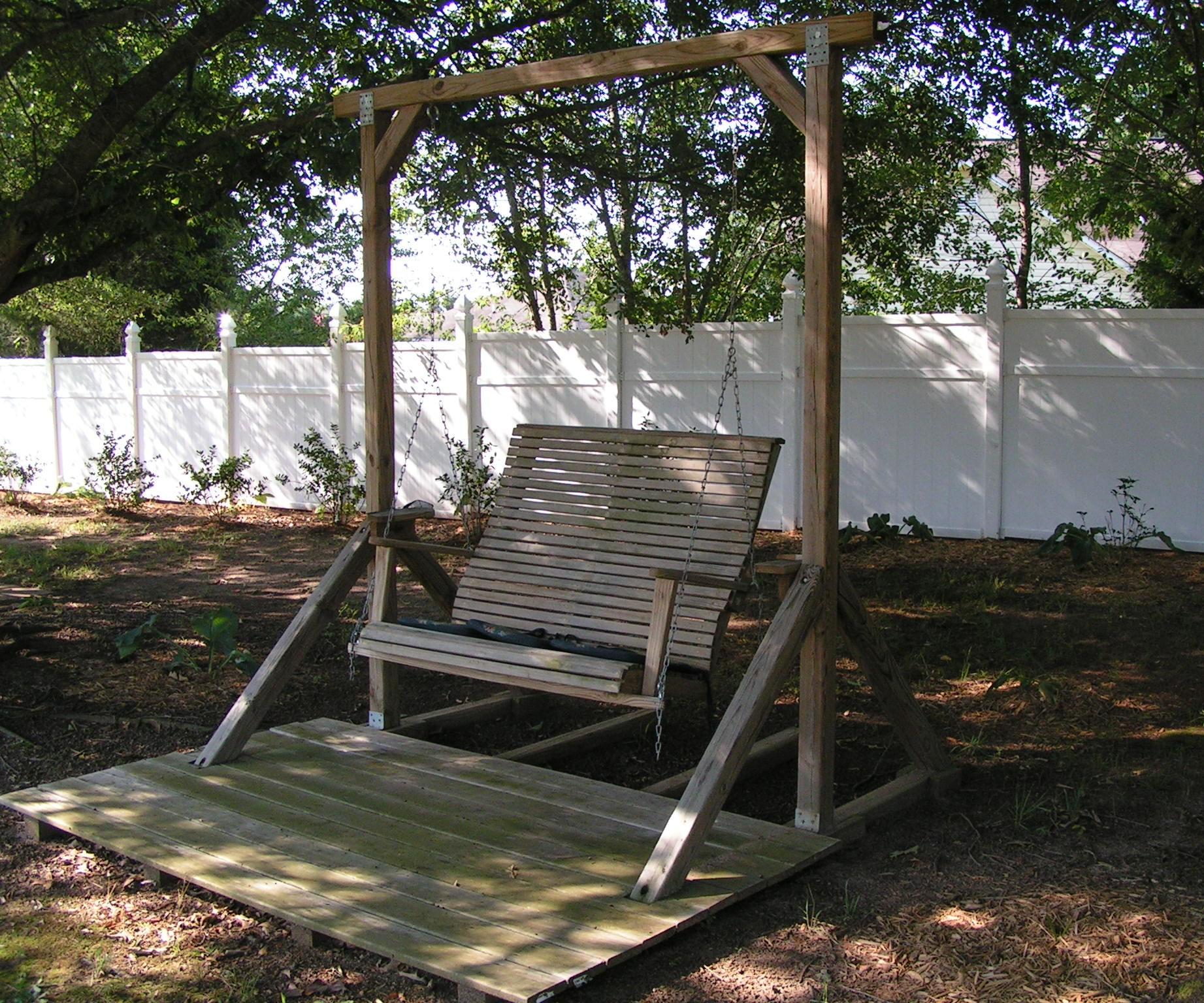 back yard swing