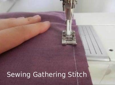 Gather and Sew Front Gather Onto Yoke