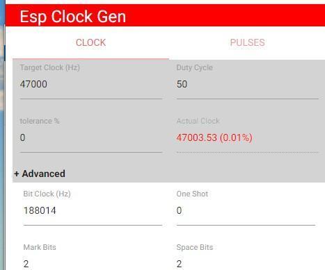 Esp8266 Clock and Pulse Generator